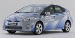 Laadpaal bij Prius Plug In hybrid